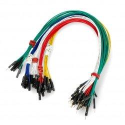 Propojovací kabely female-male 30cm barevné - 50ks