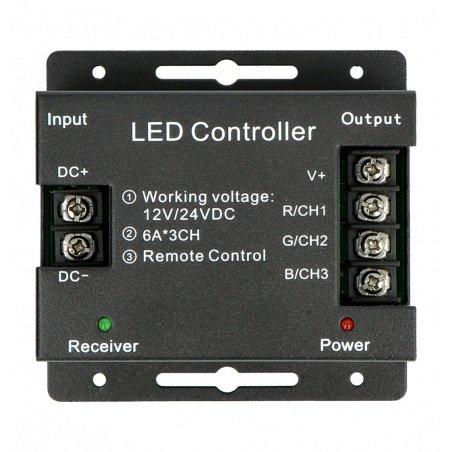 Ovladač RGB LED pásků a pásků s RF dotykovým dálkovým ovládáním
