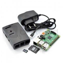 Sada Raspberry Pi 2 model B + pouzdro + napájecí zdroj + karta se systémem