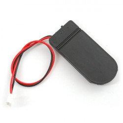 Koš na 2 baterie typu 2032 s krytem a vypínačem