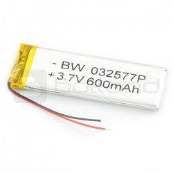 Baterie Li-Poly 600 mAh 3,7 V 3,9 Wh