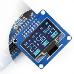 """OLED displej, modrá grafika, 1,3 """"128x64px SPI / I2C - jednoduché konektory"""