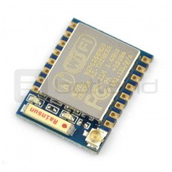 WiFi modul ESP-07 ESP8266 - 9 GPIO, ADC, keramická anténa + u.FL konektor