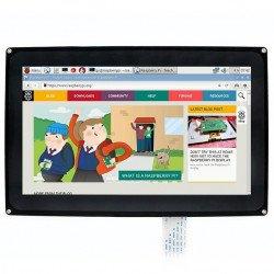 10,1 '' kapacitní dotyková obrazovka TFT LCD 1024x600px pro pouzdro Raspberry Pi 3/2 / B + +