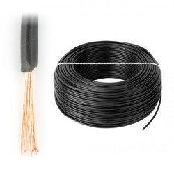 Instalační kabel LgY 1x0,5 H05V-K - černý - 1m