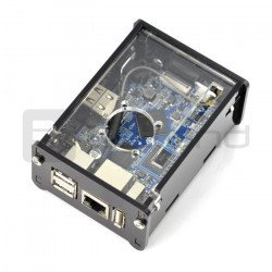 Pouzdro pro Orange Pi PC Plus - černé a průhledné