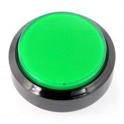 Tlačítko 6cm - zelené - ploché