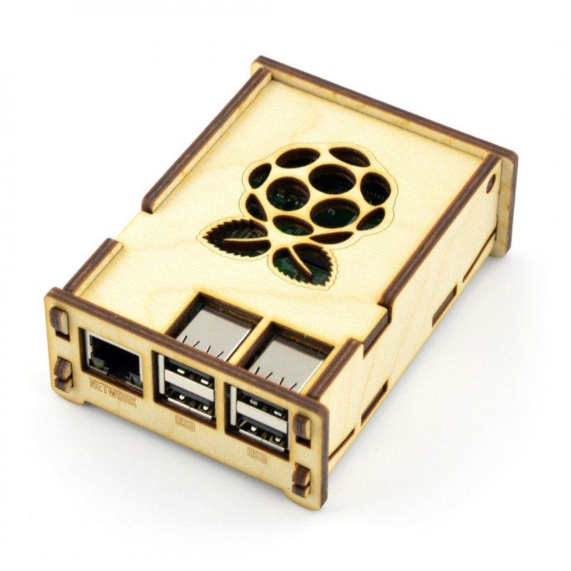 Dřevěné pouzdro Raspberry Pi Model 3/2 / B +