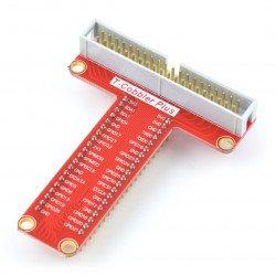 Rozšíření Raspberry Pi plus GPIO na prkénko + 40kolíková páska