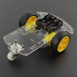 Dvoukolový podvozek robota s motory - obdélníkový
