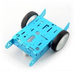 Modrý podvozek 2WD 2kolový kovový robotický podvozek s motorovým pohonem