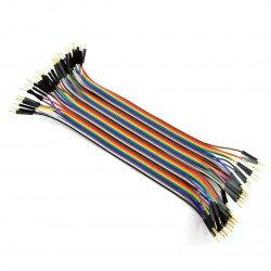 Sada propojovacích kabelů - zástrčka-zástrčka 20cm 40ks.