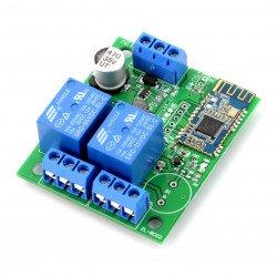 Reléový modul 2 kanály + Bluetooth 4.0 BLE - kontakty 10A / 250V - cívka 5V