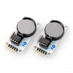 Velleman VMA301 - DS1302 SPI - hodiny reálného času + baterie - 2 ks.
