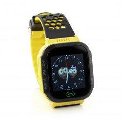 Hodinky Telefon Hodinky Go s GPS ART AW -K2 lokátorem - žlutý