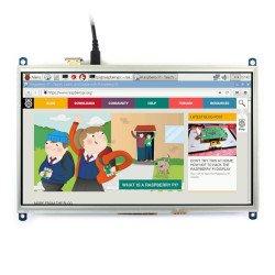 LCD TFT 10,1 '' 1024x600px odporová dotyková obrazovka pro Raspberry Pi 3/2 / B +