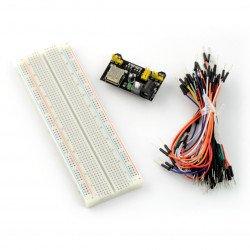 Sada prkénka 830 + vodiče + napájecí modul