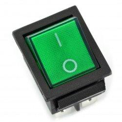 vypínač - zelený velký