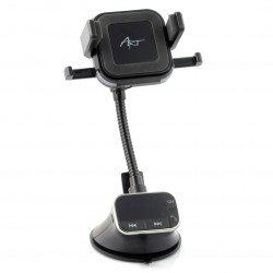 Vysílač do auta FM 4v1 - ART FM-09BT - sada handsfree, indukční nabíječka Rukojeť