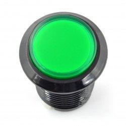 Arkádové tlačítko 3,3 cm - černé se zeleným podsvícením
