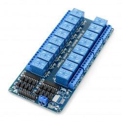 Šestnáctikanálový reléový modul RM12 5V s optoelektronickou izolací 10A / 125VAC