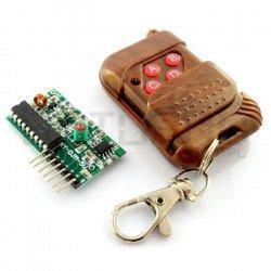 Rádiový modul, 4 kanály, 315 MHz + dálkové ovládání
