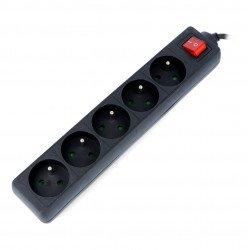 Lanberg prodlužovací kabel - černý 5x 230V s 1,5m vypínačem