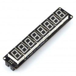 8 x 7segmentový modul displeje SPI pro montáž