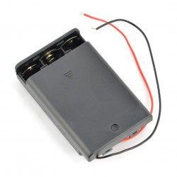 Koš na 3 baterie AA (R6) s krytem a vypínačem