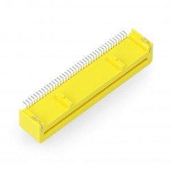 Zásuvka 40kolíková úhlová pro BBC micro: bit - žlutá