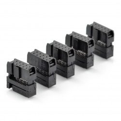 10kolíková zásuvka IDC pro pásku - 5 ks
