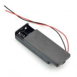 Koš na 2 baterie AAA (R3) s krytem a vypínačem