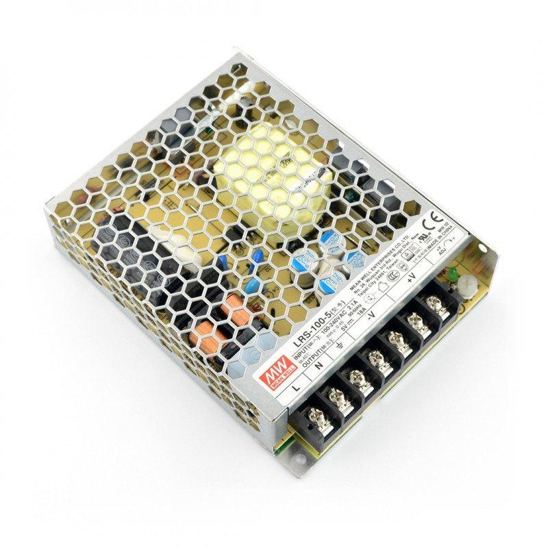Napájecí zdroj Mean Well LRS-100-5 - 5V / 18A / 90W