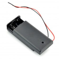 Koš na 2 baterie AA (R6) s krytem a vypínačem