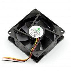 Ventilátor 12V 80x80x25 posuňte 3 vodiče