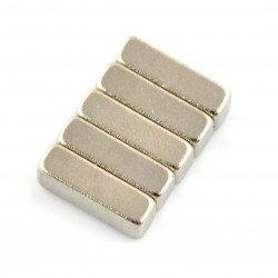 Obdélníkový neodymový magnet - 10x4x3mm - 5ks