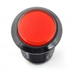 Arkádové tlačítko 3,3 cm - černé s červeným podsvícením