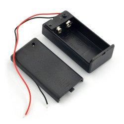 Koš na 9V baterii (6F22) s krytem a vypínačem