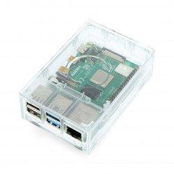 Pouzdro pro Raspberry Pi model 4B - Multicomp Pro - průhledné