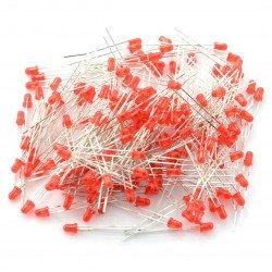 LED 3mm červená - 1000ks