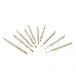 Miniaturní vrtáky 10ks - 0,6 až 2,3 mm