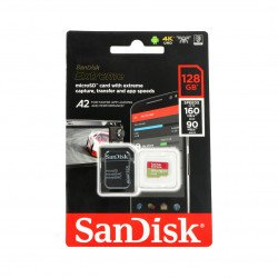 Paměťová karta SanDisk microSDXC 128 GB Extreme 160 MB / s UHS-I U3 třídy A2 s adaptérem