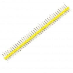 Goldpin vidlice 1x40, přímá, rozteč 2,54 mm - žlutá