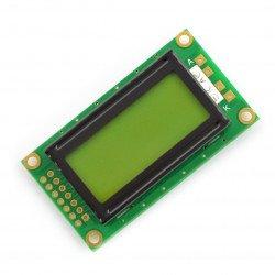 LCD displej 2x8 znaků zelený