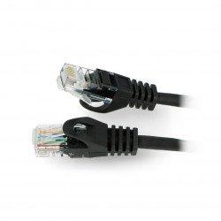 Patchcord Ethernet UTP 5e 10m - černý