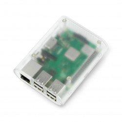 Pouzdro Raspberry Pi Model 2 / B +, průhledné, matné