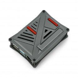 Pouzdro pro Raspberry Pi 4B - ABS - grafit - LT-4A12