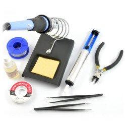 Sada nástrojů pro pájení jednoduchých prvků + páječka