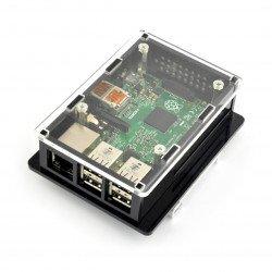 Pouzdro Raspberry Pi 2 / B + na DIN lištu