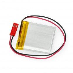 Akyga Li-Pol baterie 400mAh 1S 3,7V - konektor JST-BEC + zásuvka - 35x30x4mm